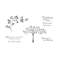 Hopeful Thoughts Clear Mount Stamp Set By Stampin Up Embossing Folder