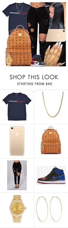 """""""Untitled #1386"""" by msixo ❤ liked on Polyvore featuring MCM, NIKE, Rolex and Magda Butrym"""