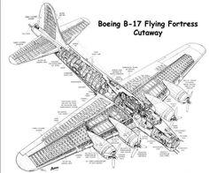 Boeing B-17 Flying Fortress («Летающая крепость») — первый серийный американский цельнометаллический тяжёлый четырёхмоторный бомбардировщик. Самолёт спроектирован в 1934 году в рамках конкурса по созданию берегового бомбардировщика, действующего против кораблей. Через год был создан прототип Model 299, оснащённый двигателями Pratt & Whitney 750 л.с., первый полёт которого состоялся 28 июля того же года. На последующих самолётах были двигатели Wright Cyclone 1 200 л.с.