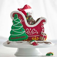 Holiday Gingerbread Sleigh #williamssonoma
