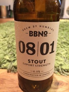 Brew By Numbers 08|01 Stout 6.0%, London, Provided by BeerBods