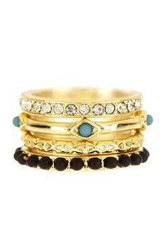 I Want Candy Stack Ring Set by Beyond Rings on @HauteLook