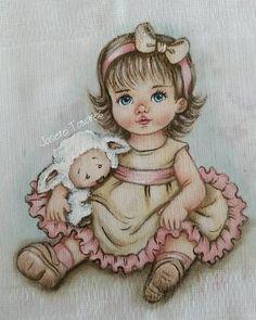 Menina com ovelhinha