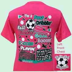 Got this for my soccer girl! Soccer Gear, Soccer Gifts, Soccer Stuff, Girls Soccer, Play Soccer, Girly Girl Originals, Soccer Outfits, Soccer Quotes, Sports Mom