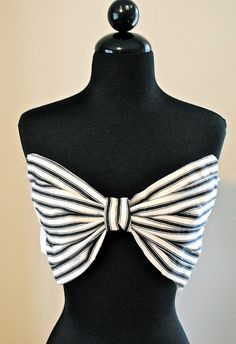 DIY bow bandeau top ..watershed...