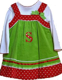 CHRISTMAS JUMPER Girls sizes 2T to 66X Red & by allaboutyoudesign