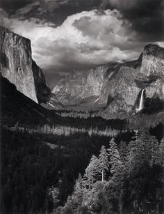 Ansel Adams.  This is one of the most breathtakingly beautiful places on earth:  Yosemite Valley.