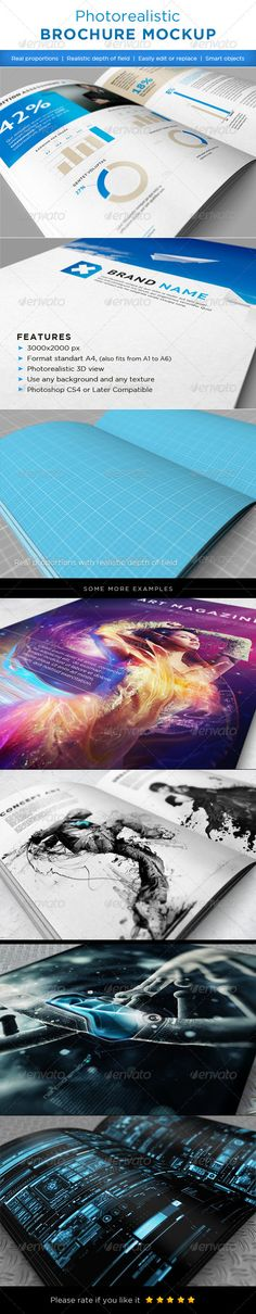 Buy Realistic brochures mock-ups by on GraphicRiver. Realistic brochures mock-ups. Easy to replace pages with your designs using smart objects, double-click the Smart Lay. Business Flyer Templates, Business Card Mock Up, Mockup Photoshop, Design Brochure, Layout, Creative Sketches, Pencil Illustration, Graphic Design Inspiration, 3 D