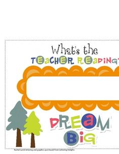 What's the Teacher Reading? sign for classroom.  Free Download from TPT