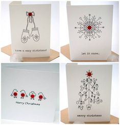 18 wonderful Christmas cards you can make in just 30 minutes – Christmas DIY Holiday Cards Create Christmas Cards, Homemade Christmas Cards, Xmas Cards, Diy Cards, Homemade Cards, Holiday Cards, Cosy Christmas, Handmade Christmas, Christmas Crafts