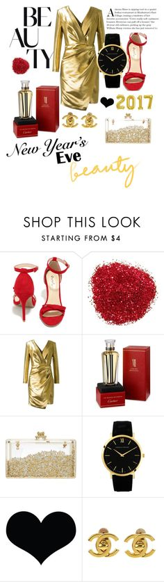 """""""Happy New Year 🎈"""" by sunflowers-coco ❤ liked on Polyvore featuring Qupid, Yves Saint Laurent, Cartier and Chanel"""