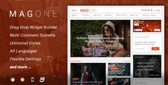 MagOne V4.1.1 template Nulled 2016 most wanted google drive link free is flexible and responsive magazine template for Blogger / Blogspot websites.
