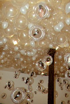 bubbles from the sky- fill a room with clear balloons for willy wonka