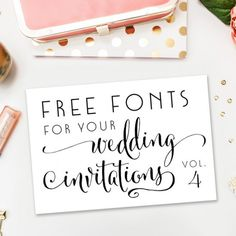 If you are tackling your own wedding invitations or save the dates, you will definitely want to check out this collection of free fonts.