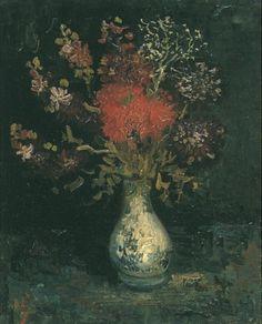 Vase with Flowers,  1886. Vincent van Gogh ·
