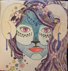 I bought some purple pencils today so had to test them out. I'm a bit in love with her. #ColourMeMindful @acatris