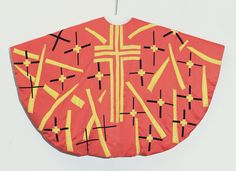 Henri Matisse. Maquette For Red Chasuble. 1950-52 (manufactured 1955). MoMA. NY