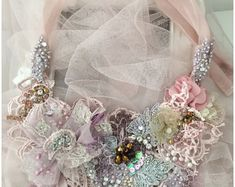 Sakura Blossom Unique Bohemian Freeform Crochet Capelet | Etsy Wedding Shrug, Freeform Crochet, Capelet, Wearable Art, Christmas Wreaths, Beading, Art Pieces, Handmade Jewelry, Bohemian