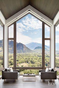 An Aspen Home Showcases Bold Taste, Mountain Views - Luxe Interiors + Design