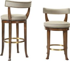 Hickory Chair 1911 Collection Newbury Swivel Curved Back Bar Stool Counter Stools With Backs, Swivel Counter Stools, Kitchen Stools, Metal Chairs, Bar Chairs, Room Chairs, Side Chairs, Modern Home Bar, Childrens Rocking Chairs