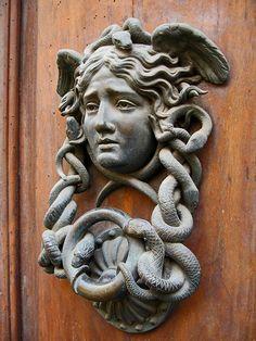 Medusa Door Knocker at the Ministero della Difesa Esercito