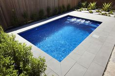 Modern Small Swimming Pool Design Ideas For Backyard 22 Small Swimming Pools, Small Backyard Pools, Backyard Pool Designs, Small Pools, Swimming Pools Backyard, Swimming Pool Designs, Pool Paving, Backyard Landscaping, Moderne Pools