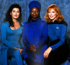 Deanna Troi, Guinan, and Dr. Beverly Crusher