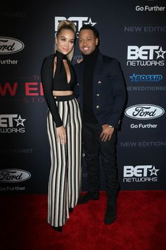 Jasmine Sanders Terrence Jenkins premiere of BET's 'The New Edition Story' held at Paramount Studios in Hollywood, California, USA. Hollywood California, California Usa, In Hollywood, Red Carpet Ready, Red Carpet Looks, Terrence J, Luke James, Jasmine Sanders, Keke Palmer