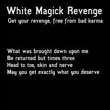 I don't believe in white magick but this is great if you believe in the threefold law.