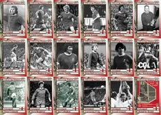 Liverpool team stickers for the 1973 UEFA Cup Final.