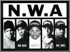 Pushing political nationalism aside, N.W.A. openly expressed crime as the way to get ahead. Sounding like real gun-toting gangstas N.W.A.'s Straight Outta Compton took middle America on a car ride through the crack cocaine infested, gang controlled, burnt-out, and ignored neighborhoods of Los Angeles.