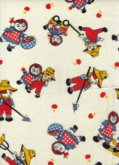 Retro Sewing Fabric Vintage Material by AdeleBeeAnnPatterns, $5.00
