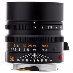 Leica 50mm f/1.4 SUMMILUX-M Aspherical, Manual Focus (6-Bit Coded) Lens for M System - Black - U.S.A. Warranty