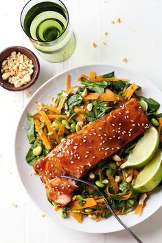 Simple Hoisin Glazed Salmon: a easy homemade glaze makes this salmon extra yummy.
