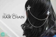 DIY Triple Star Hair Chain @ mintedstrawberry.blogspot.com