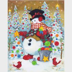 Snow Pals, snowmen, snowman art from master painter of all things Christmas, Joseph Holodook Christmas Scenes, Christmas Pictures, Christmas Snowman, Winter Christmas, All Things Christmas, Vintage Christmas, Christmas Clipart, Father Christmas, Snowman Snow Globe