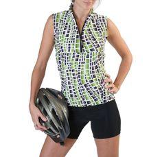 Half-zip sleeveless top