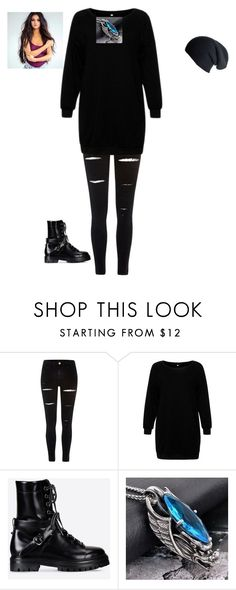 """""""Untitled #170"""" by deanamorris on Polyvore featuring River Island, Valentino, Trend Cool and Black"""