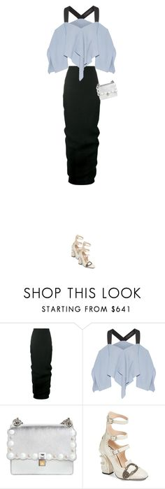 """nosey"" by pawcreations ❤ liked on Polyvore featuring Rick Owens, Roland Mouret, Fendi and Gucci"
