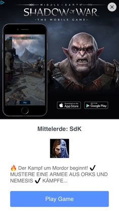 Native Design, App Store Google Play, Games To Play, Movie Posters, Middle Earth, Film Posters, Billboard