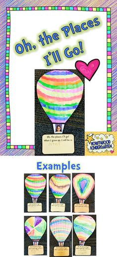 "Looking for an adorable little project to compliment the super popular Dr. Seuss book ""Oh, The Places You'll Go?"" Looking for an adorable little project to compliment the super popular Dr. Seuss book ""Oh, The Places You'll Go? Dr. Seuss, Dr Seuss Week, Classroom Crafts, Classroom Activities, Preschool Crafts, Classroom Door, Classroom Ideas, Dr Seuss Preschool Art, Preschool Alphabet"