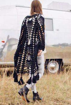 2015 nuevas mujeres a largo cardigans hollow out Casual suéter tejido crochet cover up prendas de punto blusa de manga larga del suéter de bohemia en Chaquetas de Moda y Complementos Mujer en AliExpress.com | Alibaba Group