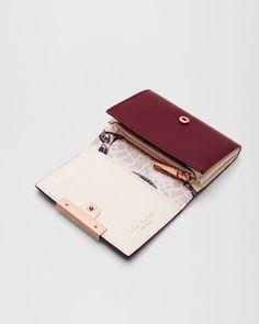 Metallic bar small leather purse - Grape | Purses | Ireland Site
