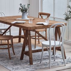 Global Gatherings Rustic Pine Trestle Dining Table & Reviews | Temple & Webster Global Gathering, Trestle Dining Tables, Wishbone Chair, Pine, Rustic, Temple, Furniture, Home Decor, Pine Tree