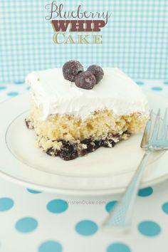 Blueberry Whip Cake Recipe - quick & easy one pan dessert dish | KristenDuke.com