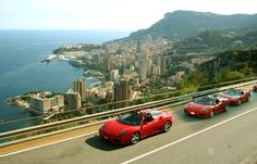 Drive by the most beautiful roads and panoramas of the French Riviera between Monaco and Nice along the coast and by the mountains. > 1 Hour Ferrari Tour