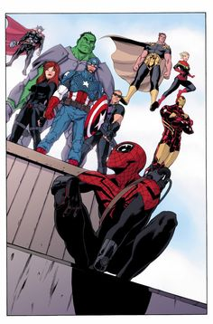 #Superior #Spiderman #Fan #Art. (SUPERIOR SPIDER-MAN TEAM-UP #1Cover) By: PAOLO RIVERA. ÅWESOMENESS!!!™