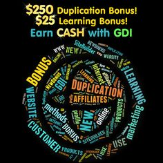 GDI has new bonuses! Share them and benefit!