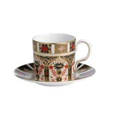 Royal Crown Derby Old Imari Coffee Cup Saucer