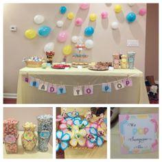 Ready To POP! Baby Shower party theme! POPcorn, POPtart cupcakes, POProcks cupcakes, soda POP, jalapeño POPpers, POPcorn chicken, blowPOP flowers, POPart, ringPOPs, banana POPs, POPpyseed salad, fruit POPs, POP quiz, POP champagne